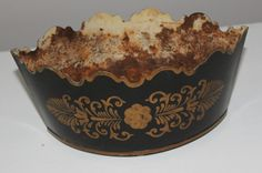 Early 20th C Italian Tole Cache Pot by ADesignersEye on Etsy, $75.00