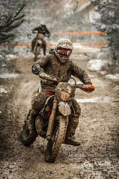 Racing enduro through the mud. Yep that's my thing. :)