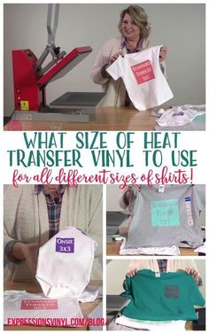 Size of HTV Do You Need For a Shirt? what size of vinyl decal heat transfer vinyl to use for all different size of shirts!what size of vinyl decal heat transfer vinyl to use for all different size of shirts! Inkscape Tutorials, Cricut Tutorials, Cricut Ideas, Shilouette Cameo, Silhouette Cameo Projects, Silhouette Curio, Silhouette School, Silhouette Cutter, Silhouette Vinyl