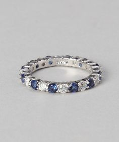 Love this White Gold & Sterling Silver Eternity Ring on #zulily! #zulilyfinds
