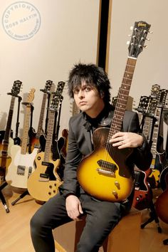 Billie Joe Armstrong with his guitar. I want that one the most.... does Billie come with it?