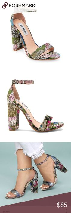b93b08aa13467 BRAND NEW STEVE MADDEN CARRSON HEELS Super cute bright multi-colored Steve  Madden Carrson heels