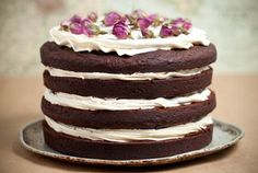 Unfrosted Naked Wedding Cakes » Love Notes Wedding Blog