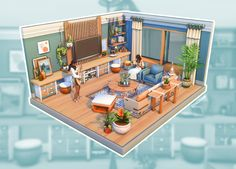Sims 4 House Plans, Sims 4 House Building, Sims 4 Kitchen, Sims 4 Bedroom, Sims 4 House Design, Casas The Sims 4, Sims Games, Sims 4 Build, The Sims4