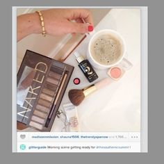 From The Glitter Guide's Instagram… They're getting ready for The Southern C Summit with @Beautycounter Lustro Face Oil 2....