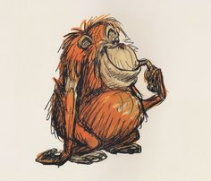 The Jungle Book: Original Concept Art Collection Cartoon Kunst, Cartoon Drawings, Cartoon Art, Cute Drawings, Animal Sketches, Animal Drawings, Character Sketches, Character Design, Monkey Art
