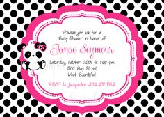 Pink Panda Baby Shower Invitations by reflections06 | Oh Baby ...