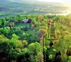 """Monticello in Virginia     """"No occupation is so delightful to me as the culture of the earth, and no culture comparable to that of the garden."""" —Thomas Jefferson"""