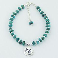 Silberarmband türkis Lebensbaum