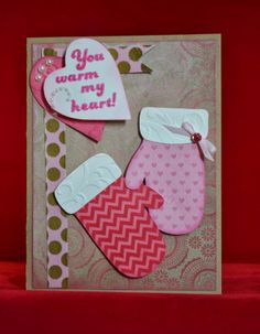 CTMH Valentine's Day Card.  All papers from ScrappyHorses.ctmh.com