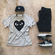 """WEBSTA @ streetfitgrid - #StreetFitGrid """"spread love today"""" by @ldn2hk ☑️-Cap: supreme x stoneisland-Tee: commedesgarcons cdgplay-Pants: stampd-Sneakers: nikelab x fragmentdesign"""