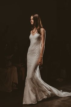 Scottie's unique lace and plunging back will mesmerise you into a beautiful trance. Wedding Dress With Veil, Affordable Wedding Dresses, Sophisticated Bride, Bridal Salon, Home Wedding, Scottie, Bridal Collection, Wedding Designs, Dress Making