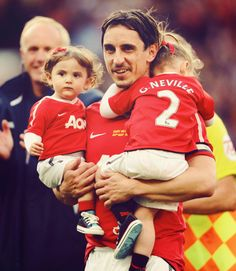 Gary Neville and kids