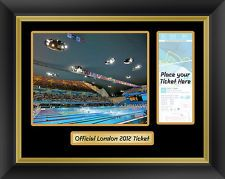 London 2012 Aquatics Centre / Swimming Framed Photograph to display your ticket From London 2012 Olympics