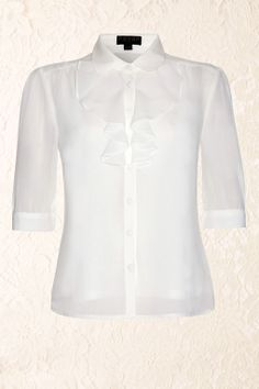 Fever - 50s Positano blouse Cream