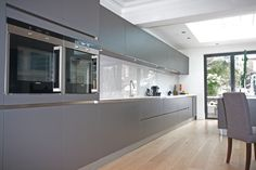 Matt Anthracite Laminate Kitchen - Handleless matt laminate anthracite kitchen units - Discover more at www.lwk-home.com