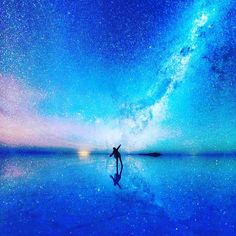 The #Cosmic #Selfie in Uyuni de Salar #Bolivia ...   #Cosmos #MilkyWay #Earth #Space #Galaxy --------------------------------------- Via @awesome_earthpix --------------------------------------- Photo by Xiaohua Zhao --------------------------------------- #InsprMe #Inspire #Inspiration #Energy #Vibration #science #BacktotheFuture #stars #planet #Gaiam #outerspace #Nasa #starstuff #gypsy #treehugger #conscious #consciousness by insprme