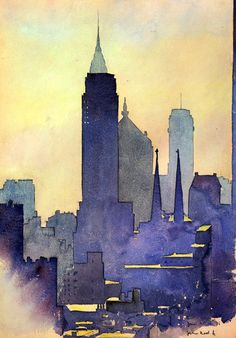 woooooow. working on something similar right now... Watercolor Cityscape