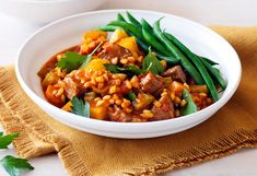 Weight Watchers' lamb, barley and rosemary stew recipe - Lamb Recipes, Slow Cooker Recipes, Cooking Recipes, Healthy Recipes, Savoury Recipes, Healthy Options, Delicious Recipes, Hearty Stew Recipe, Weight Watcher