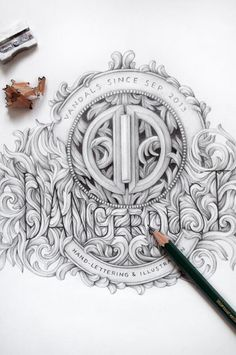 Dangerdust handdrawn logo by danger dust