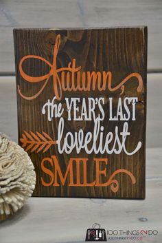 Create your own Autumn decor using scrap wood, a bit of stain and your favourite quote.  Easy DIY, decor, Fall, Craft