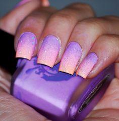 Ideas for nails ombre purple nailart Nails Yellow, Purple Ombre Nails, Purple Manicure, Purple Nail Art, Purple Nail Designs, Gradient Nails, Pink Nails, Nail Art Designs, Hot Nails