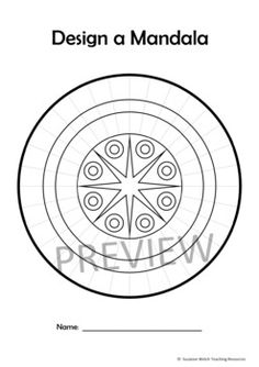 Mandala Templates – Design a mandala pattern – STARS in the centre Mandala Pattern, Dot Painting, Line Art, Art Pieces, Dots, Templates, Stars, Centre, Mindfulness