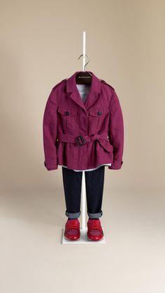 Veste utilitaire évasée en lin | Burberry