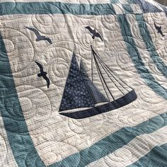 """331 Likes, 18 Comments - Janetclare (@janeteclare) on Instagram: """"'Sail Away' new pattern to go with my latest @modafabrics line 'Ahoy, me Hearties'. Quilt shops can…"""""""