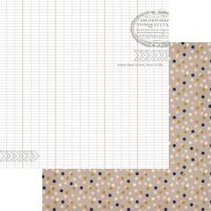 Papier double 30x30 'Teresa Collins' Life Emporium Ledger