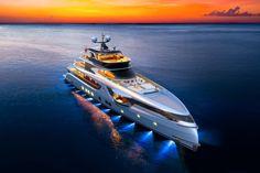 Dynamiq Updates the Extraordinary GTT 165 Superyacht Lower Deck, Yacht For Sale, Bugatti Chiron, Design Language, Luxury Yachts, Aluminium Alloy, Boat, House Styles, Dinghy