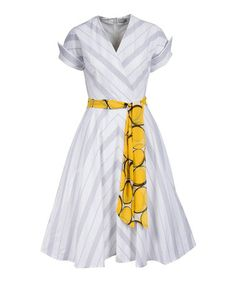 Look what I found on #zulily! White The Hamptons Retro A-Line Dress #zulilyfinds