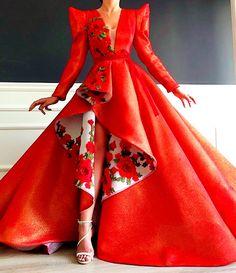 by Dona Matoshi. Shop for beautiful Gowns at Dona Matoshi. Discover a fabulous selection of dresses. Ball Gown Dresses, Prom Dresses, Mermaid Dresses, Wedding Dresses, Elegant Dresses, Pretty Dresses, Look Fashion, Runway Fashion, Filipiniana Dress