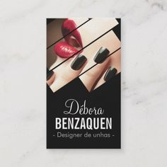 Modern Black And Red Fashion Makeup Beauty Salon Business Card Cards Artist