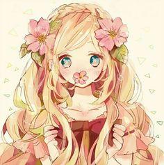 #animegirl #animeflowers #chick