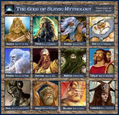 The Gods of Slavic Mythology. The Slavs worshiped a wide range of deities, from the shores of the Baltic to the shores of the White Sea. Slavic folklore is cultic in nature, where the same god can be found worshiped in various guises from tribe to tribe. World Mythology, Celtic Mythology, Greek Mythology, Russian Mythology, Myths & Monsters, Pagan Gods, Ancient Myths, Legends And Myths, Gods And Goddesses