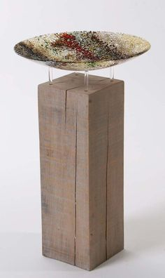 Coastal Bowl as Art in the Garden/Birdbath Interior Accessories, Coastal, Sculptures, Contemporary, Glass, Garden, Table, Furniture, Design