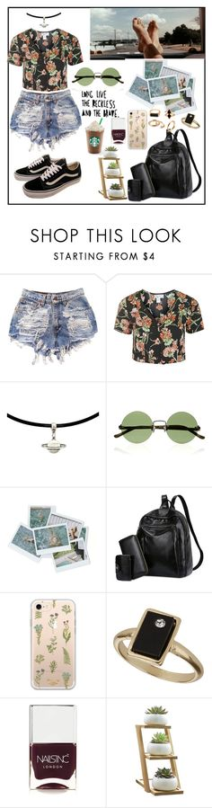 """Sin título #204"" by valusa ❤ liked on Polyvore featuring Topshop, The Row, Vans, Zero Gravity and Nails Inc."