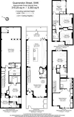 Quarrendon basement and extensions I worked on Rear Extension, London House, Basements, House Prices, Extensions, Floor Plans, History, Inspiration, Biblical Inspiration