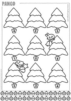 Christmas Trees Preschool Christmas Activities, Christmas Worksheets, Kids Math Worksheets, Kindergarten Activities, Christmas Tree Cutting, Christmas Math, Christmas Trees, Handmade Christmas Crafts, Winter Crafts For Kids