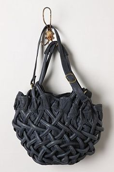 Handbasket Bag  With a zip closure and 5 inner pockets in blue leather.  Gorgeous 37c78a90eb4ff