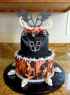 Candice's Black Veil Brides Birthday cake--February 2016
