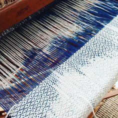 #kasuri #ikat #naturalindigo #naturaldye #weaving