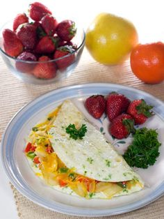 Yummy Breakfast Idea: Chive & Cheese Omelet