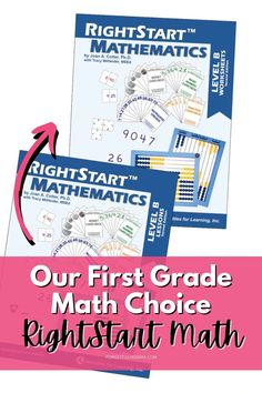 Making a choice on what math curriculum to use is hard! We wanted hands-on, fun, and math so we're using RightStart Math for grade one. Math For Kids, Fun Math, Math Resources, Math Activities, Homeschool Math Curriculum, Math Manipulatives, First Grade Math, Math Lessons, Teaching Math