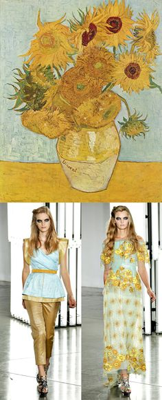 Van Gogh inspired fashion by Rodarte #Sunflowers