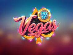 Vegas Slot Game Logo logo typography design art lettering type casino game