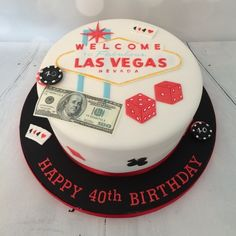 Classic Las Vegas Themed Wedding Cake Gimmesomesugarlv