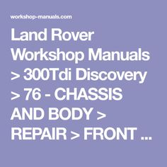 Singer 591 d200a 591 d300a industrial sewing machine parts manual land rover workshop manuals 300tdi discovery 76 chassis and body repair fandeluxe Choice Image