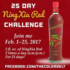 Who's with me? You have a lover a month to plan! Join me as I embark on a 25 Day #NingXia Red Challenge! Let's see what a difference it can truly make. I'll post how I'm doing from the start of the challenge to the end on Facebook and Instagram. #25DayNingXiaRedChallenge ❤️🙌🏻❤️ 💜💧💙💧💚💧💛💧❤️ Facebook.com/thecolorbelt #thecolorbelt 💜💧💙💧💚💧💛💧❤️ #EssentialOils #YoungLiving #younglivingessentialoils #yleo #younglivingrocks #younglivingmember #younglivinglover #wellbeing #health…